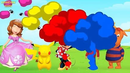 Wrong Eyes Minnie Mouse, Sofia the first, Pikachu, Backyardigans Finger Family Song