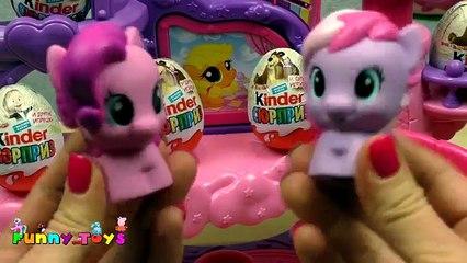 Unboxing Kinder Surprise Masha and The Bear Маша и Медведь Музыкальный замок My Little Pony