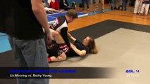 GIRLS GRAPPLING Becky Young vs Liz Mooring REMASTERED Classic AGL 4 Womens No-Gi JiuJitsu Triangle Choke