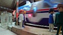 Record du plus long TGV playmobil (16 wagons + 3 motrices) !!!