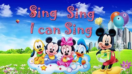 Nursery Rhymes Songs   Mickey Mouse   ABC song for Baby   Learn English