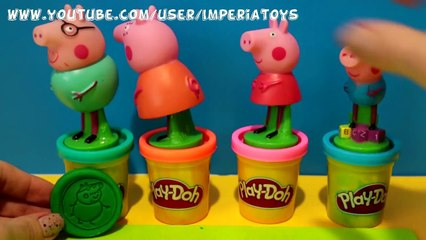 Play Doh Peppa Pig Stampers Play Dough Mummy Daddy Peppa George