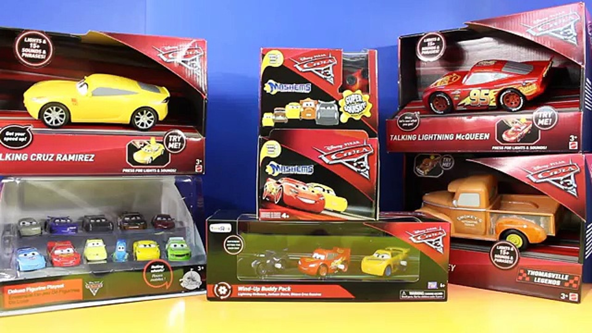 Disney Cars 3 Collection With Racing Crashing Lightning Mcqueen