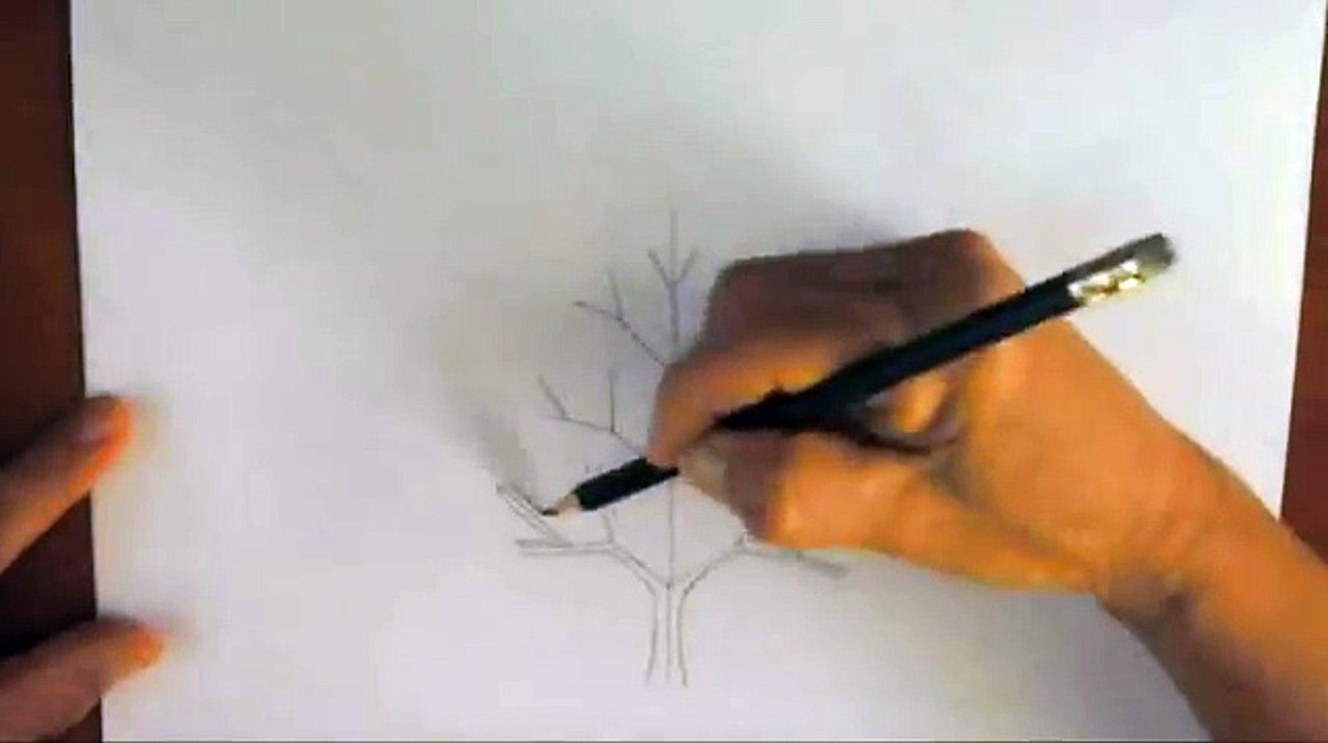 Como Dibujar Un árbol Paso A Paso Bien Fácil Bases Para Aprender A Dibujar Un Arbolito Clásico Dailymotion Video