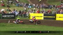 Cairoli vs Herlings battle & Cairoli Crash - MXGP Race 1 - MXGP of Great Britain