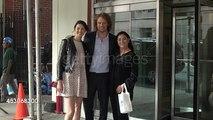 Sam Heughan, Caitriona Balfe and Diana Gabaldon - CBS Studios