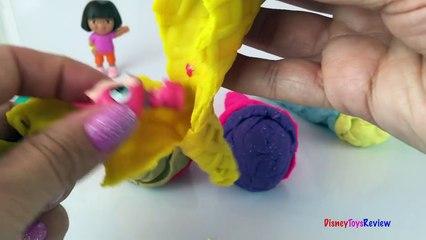 PlayDoh Surprise Ice Cream Cones Toys - Disney Cars Mater Mickey Mouse Dora The Explorer LPS