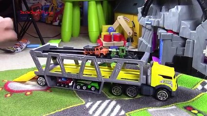 Matchbox Cars and Trucks Transporter: UNBOXING and PLAYING with JackJackPlays