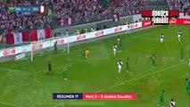 RESUMEN DE GOLES: Peru vs Arabia Saudita 3-0 Amistoso Internacional