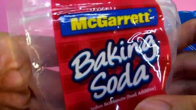 DIY GUM PUTTY , NO BORAX SLIME RECIPE WITH BAKING SODA - Elieoops