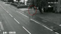 Ghost Walking On Road Caught On CCTV Camera   Footage Scary Video    Real Ghost Video