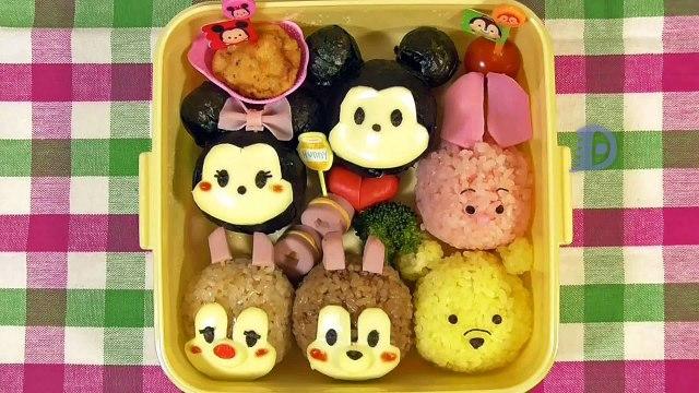 Disney Tsum Tsum Bento Lunch Box【Kyaraben】ディズニーツムツム弁当(キャラ弁)の作り方【簡単キャラ弁】