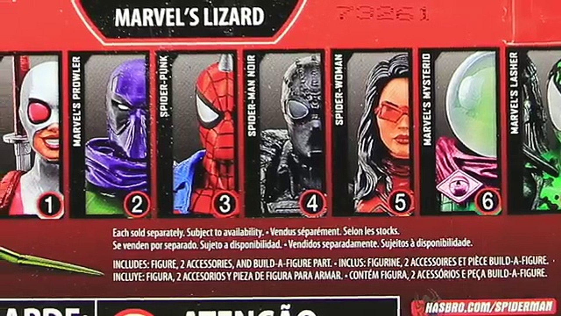 """Marvel Legends Spider-Man Lizard Wave BAF Spider Punk 6/"""" Inch ACTION FIGURE NEW"""