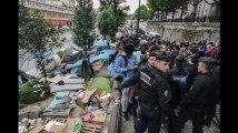 Paris : la police évacue le camp de migrants du canal Saint-Martin
