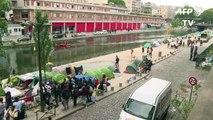 Paris: évacuation du camp de migrants du canal Saint-Martin