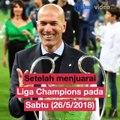 Zinedine Zidane Mengundurkan Diri Sebagai Pelatih Real MadridPelatih Zinedine Zidane mengejutkan para pecinta sepak bola dunia.Hal itu disebabkan secara tib