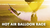 Happy Hot Air Balloon Day! or how to fly through 4 hot air balloons.