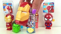 Marvel AVENGERS Candy Dispensers with Lollipop Light Spinner & Spider Iron Man Surprises