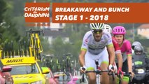 Breakaway and bunch - Étape 1 / Stage 1 (Valence / Saint-Just-Saint-Rambert) - Critérium du Dauphiné 2018