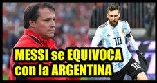Lionel Messi no puede ir al Mundial Rusia 2018 creyendo que  la Selección Argentina no es favorita