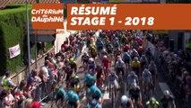 Résumé - Étape 1 (Valence / Saint-Just-Saint-Rambert) - Critérium du Dauphiné 2018