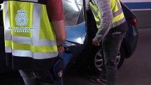 Policía Nacional detiene en Madrid 6 aluniceros por asaltar bancos y recupera 10 autos de alta gama