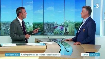 CHAMPIONNATS DE FRANCE DES SPORTS SUBAQUATIQUES - LIMOGES 2019 - JT FR3 12/13