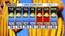 High temperatures stay around 105 for the Valley