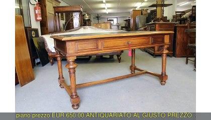 Antica scrivania scrittoio in noce...