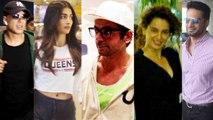 Akshay Kumar, Kangana Ranaut and Sunil Grover Spotted at Mumbai Airport। FilmiBeat