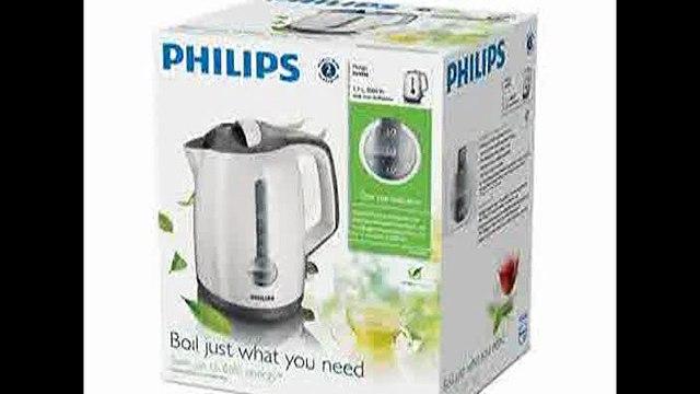 [- Philips HD4644/00 Energy Efficient Kettle, 3000 Watt, 1.7 Litre - White/Grey  -]