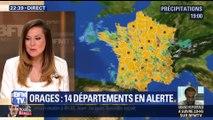 Orages : 14 départements en vigilance orange