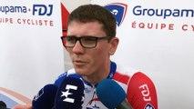 """Critérium du Dauphiné : David Gaudu,  """"quatre heures aux urgences et neuf points de suture"""""""