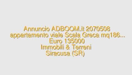 appartamento viale Scala Greca mq186...