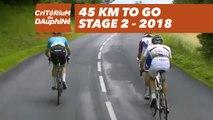 45 kilometers to go - Étape 2 / Stage 2 (Montbrison / Belleville) - Critérium du Dauphiné 2018