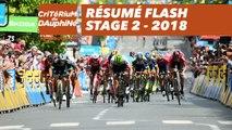 Résumé Flash - Étape 2 (Montbrison / Belleville) - Critérium du Dauphiné 2018