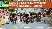 Flash Summary - Stage 2 (Montbrison / Belleville) - Critérium du Dauphiné 2018