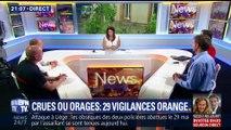 Crues ou orages: 29 départements placés en vigilances orange