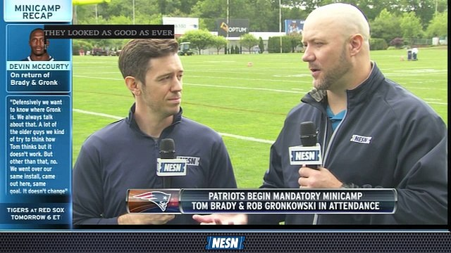 Tom Brady, Rob Gronkowski Look Good On First Day Of Mandatory Minicamp