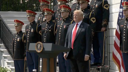 President Trump Sings And Leads A Celebration of America