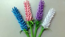 How To Make Lavender Paper Flower Easy Origami Flowers For Beginners Making Diy Paper Crafts