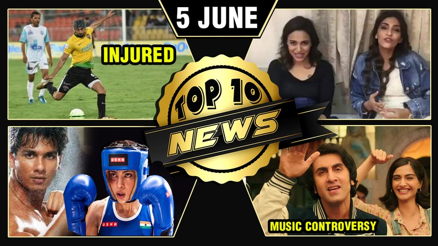 Ranbir Kapoor Injured, Sanju Music Controversy, Sonam Supports Swara, Shahid Kapoor   Top 10 News