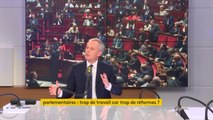 """Surcharge de travail à l'Assemblée : """"Je souhaite qu'on ne siège plus le week-end, ce n'est pas un fonctionnement normal"""", juge François de Rugy #8h30politique"""