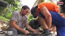 The Island Célébrités : Gwendal Peizerat et Olivier Dion arrivent enfin à faire du feu (Vidéo)