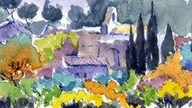 Un printemps en Provence - Aquarelles simplifiées