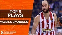 Top 5 plays, Vassilis Spanoulis, All-EuroLeague Second Team