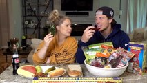 GIANT GUMMY VS. REAL FOOD CHALLENGE | Shawn + Andrew