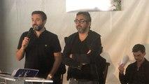Les réalisateurs du film Intouchables et Philippe Pozzo di Borgo
