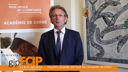 Séminaire GIPFCIP - ouverture par le recteur