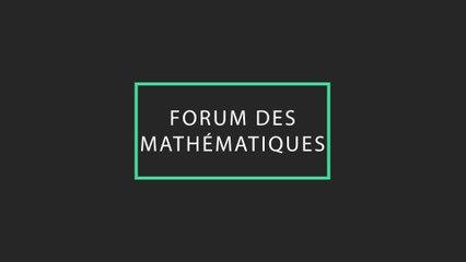 Forum des mathématiques PV 25 Mai 2018